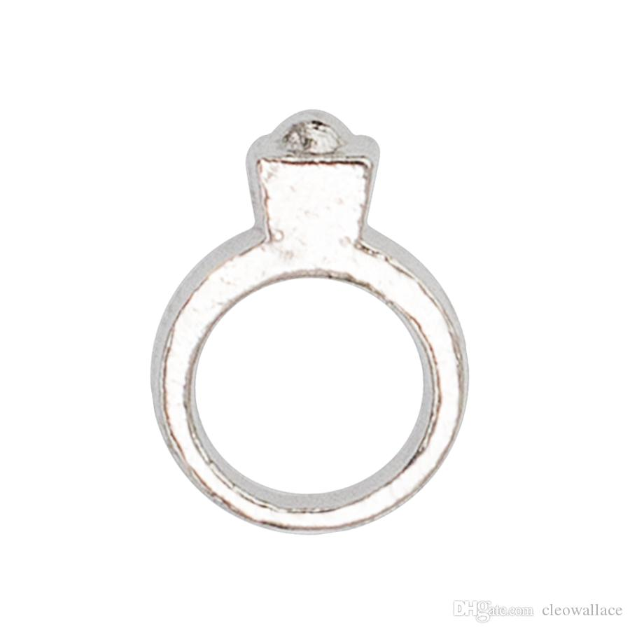 30pcs/lot free shipping rhinestone ring good quality alloy DIY floating charms for glass living memory lockets