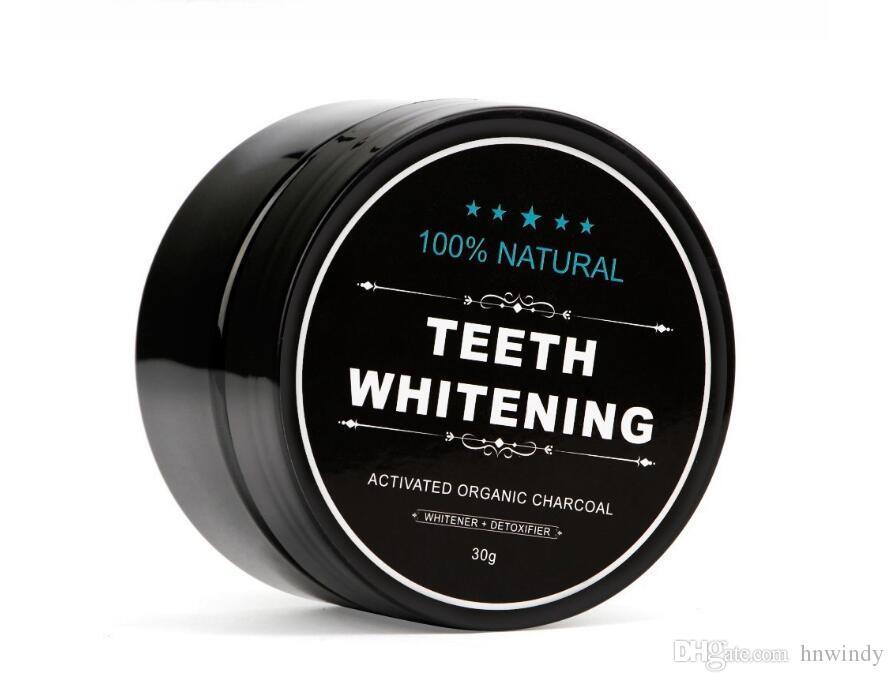 Dropshipping uso diario blanquear los dientes Escalado Polvo oral Higiene limpieza de embalaje premium Activado dientes de carbón de bambú polvo blanco