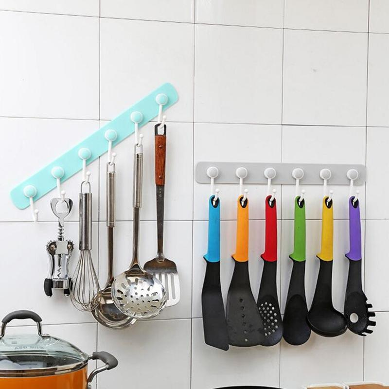 2019 360 Degree Rotation Storage Rack With 6 Hooks For Hanging Clothes Hat  Coat Hanger Kitchen Wall Hook Kitchen Organizer From Oopp, $39.82 | ...