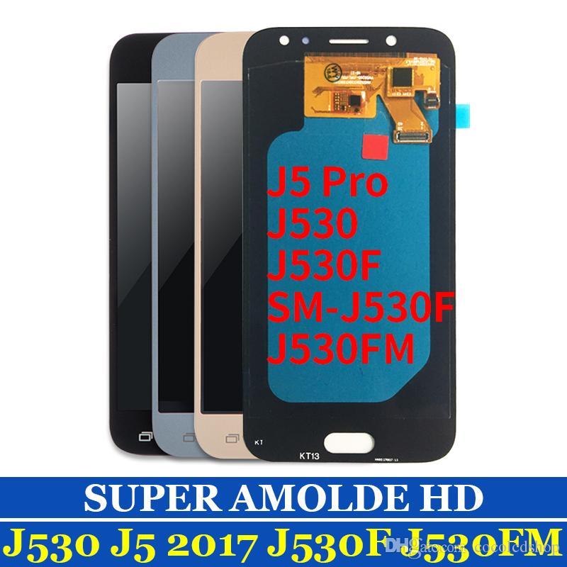 """Test Süper AMOLED 5.2 """"LCD Ekran Dokunmatik Ekran Samsung galaxy Için J5 2017 J5 Pro J530 J530F J530M LCD Digitizer Meclisi"""