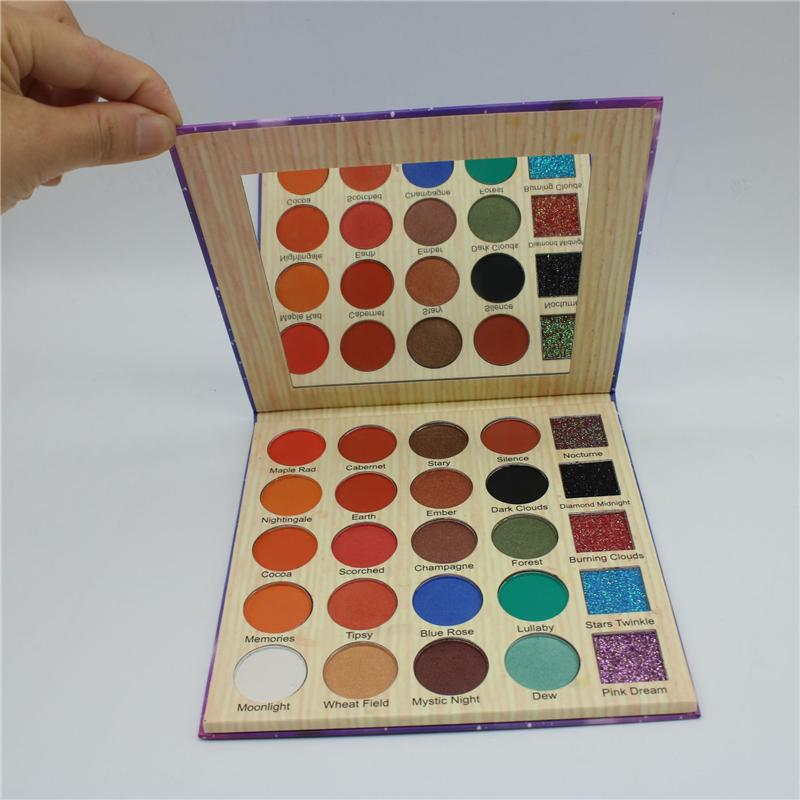 CLEOF 25 Colors Makeup Eyeshadow Cosmetics Shadows Eyeshadow Palette Beauty Diamond Cleof Glitter Matte Eye Shadow Palette Kit