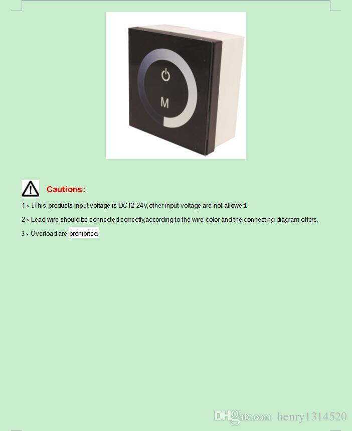 Настенный сенсорный панели контроллер диммер для 3528 5050 одного цвета светодиодные ленты освещение 12-24В