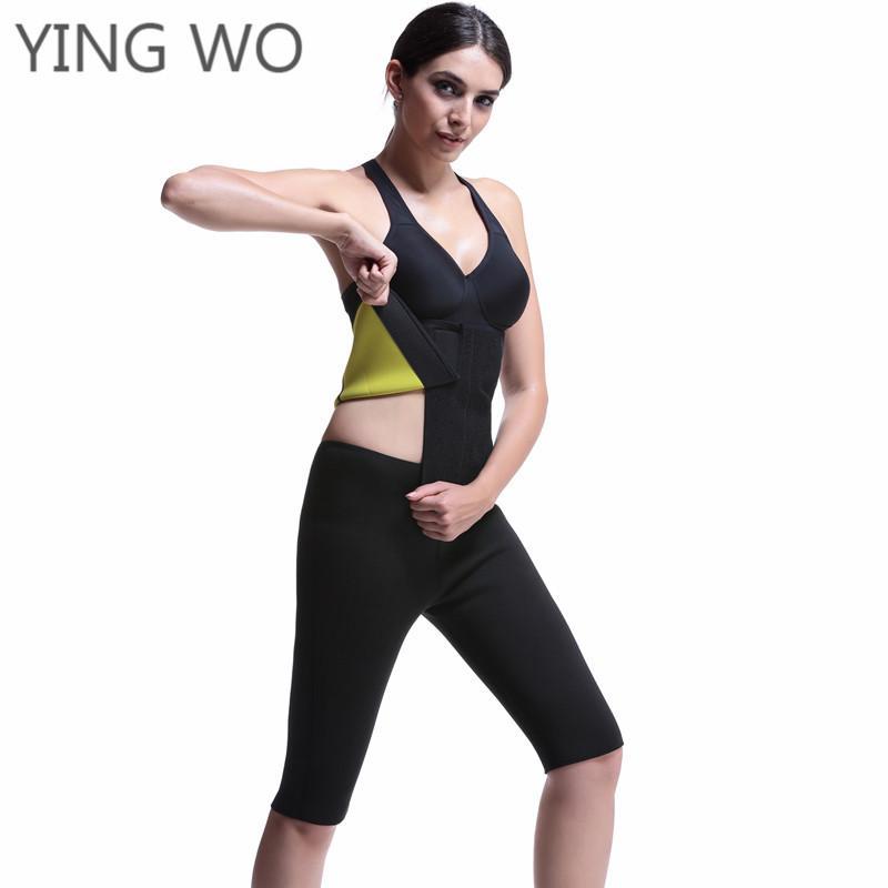 c720a42703d Black Neoprene Thermal Waist Cincher Belt Hot Shaper Waist Trainer Belt  Postpartum Tummy Trimmer Shaper Slimming