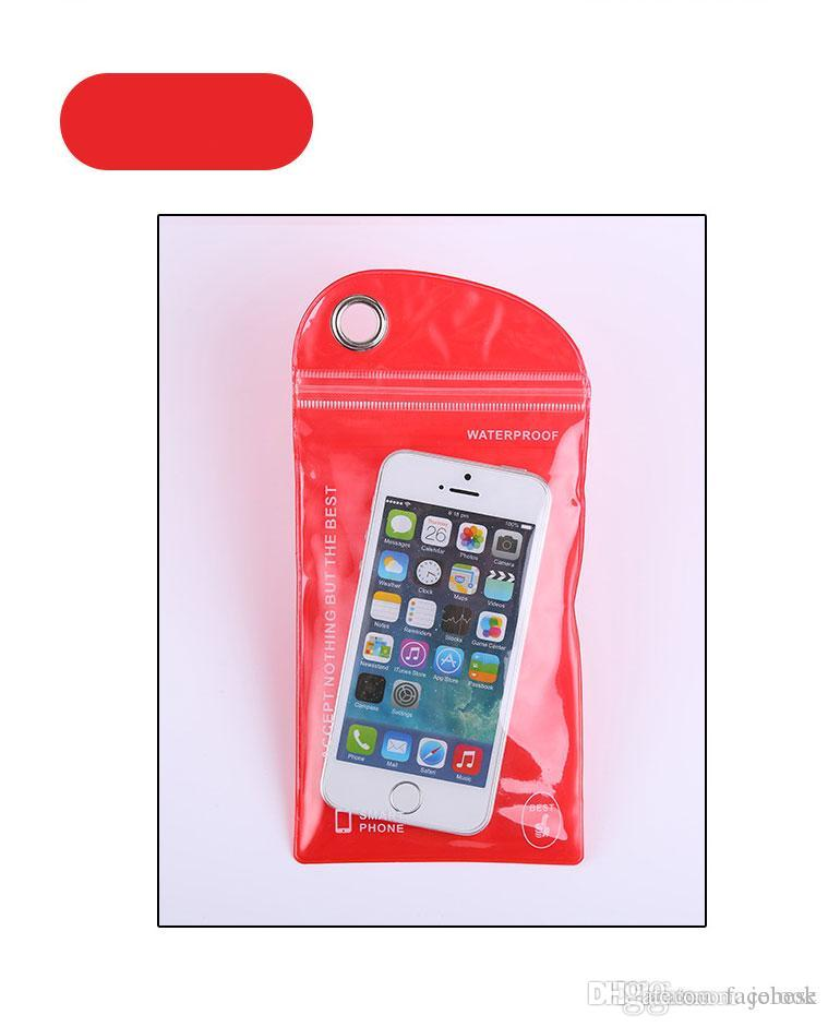 PVC plastic bag mobile phone waterproof bag pudding membrane self-styled ordering 10 x 20 following from bag