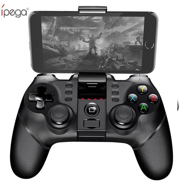 iPega PG Manette de jeu sans fil Bluetooth avec manette de jeu TURBO pour manette de jeu Bluetooth pour tablette Android / iOS