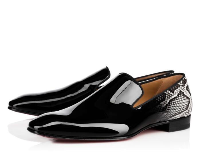 горячий Элегантный Gentleman скольжения на одуванчик Sneaker Flat Mens Business Red Bottom Loafer Роскошные дизайнерские Oxfords Открытый Свадебная обувь партии