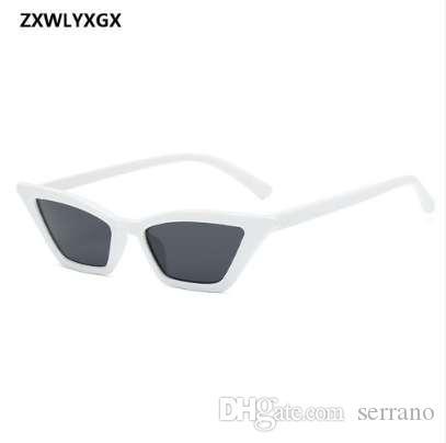 Moda ojo retro MS.Man Gafas de sol ZXWLYXGX Gafas de sol Transparentes Coloridas Nuevas Gafas de sol Pequeñas Cat 2018 Colorido Betcp