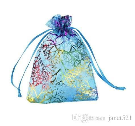 Sac cadeau en organza Pochette cadeau en corail Sac cadeau pour sac Bijoux pour bijoux