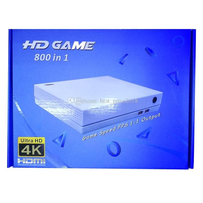 2018 HDGame Konsolen 4K TV Video HDGame Konsole Unterstützung HDMl TV Out kann 800 Spiele für GBA FC MD Spiele mit Kleinkasten frei DHL speichern