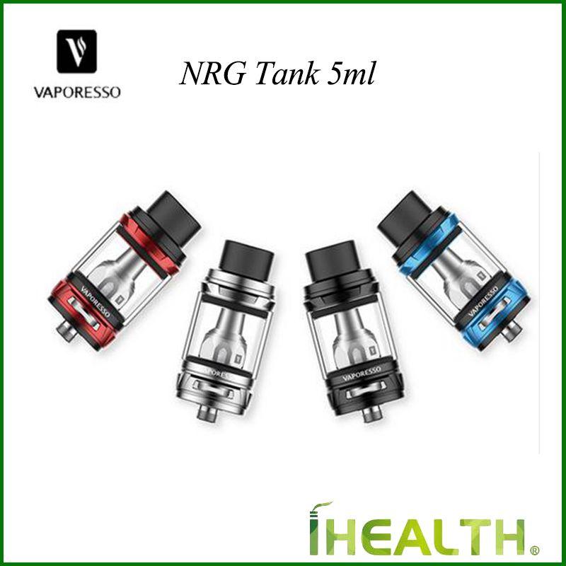100% Oryginalny Atomizer zbiornika Vaporesso NRG z pojemnością 5ML NRG Atomizer z cewką GT4 GT8 Cewka główna do REHENGER Box Mod DHL Shipping