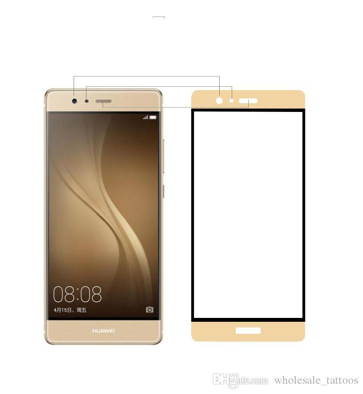 Per Samsung Galaxy Sol 3 J3 Eclipse 2 J3 Prime 2 J3 Aura / Orbit LG CV3 Prime 3D Protector vetro temperato pieno con confezione per la vendita al dettaglio