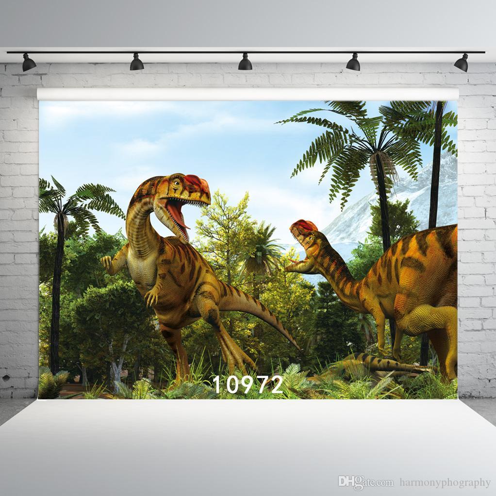 Динозавр Фотографические обои Виниловые Ткань фоны 10972 Photocall для детей для фотостудий Photobooth партии стены