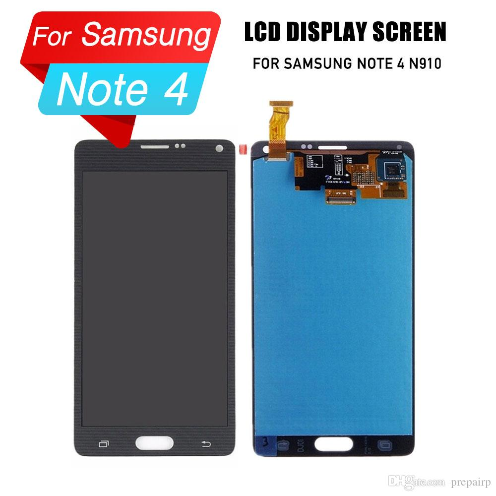 PrepairP LCD digitizer screen para samsung note 4 n910 n910a n910v tela lcd touch screen assembly para samsung NOTA 4 display lcd