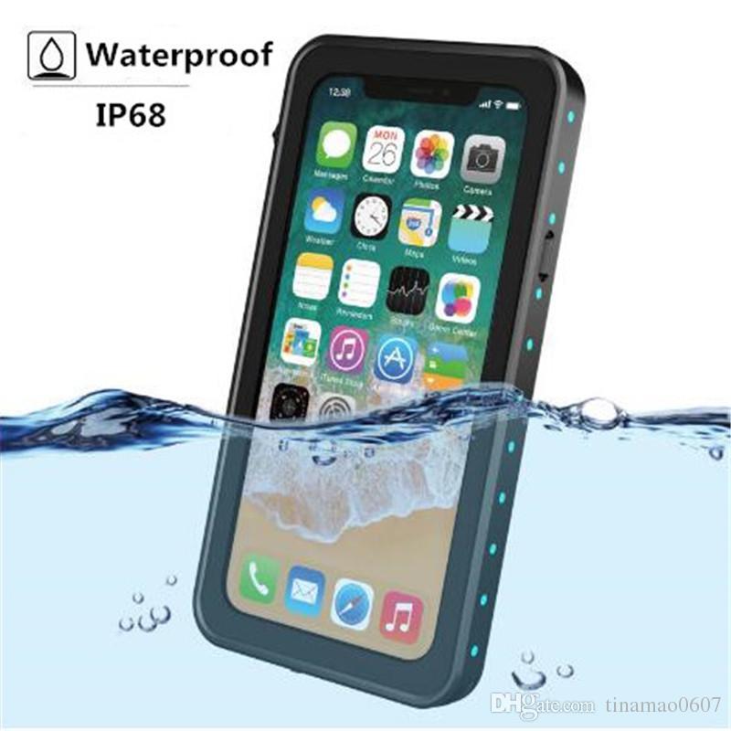 Waterproof Case IP68 Swimming Diving Underwater TPU Cover For Iphone X Outdoor Shockproof Dustproof Snowproof Protective Case