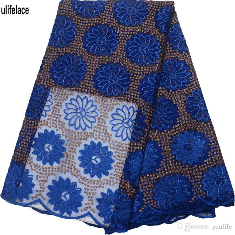 2019 Latest African Lace Fabric Sample Design designer lace fabric 8 Colors in stock Embroidered Women Lace Material F4-1793