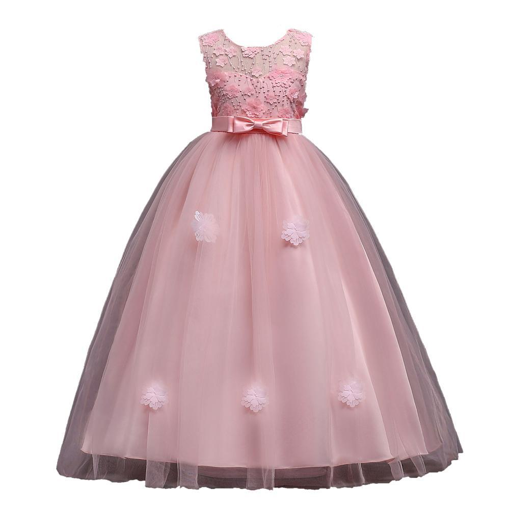 Großhandel Prinzessin Spitze Blumenmädchenkleider 16 Tüll Mädchen Festzug  Kleider Erstkommunion Kleider Kinder Abendkleider Von Kong16lingqi,