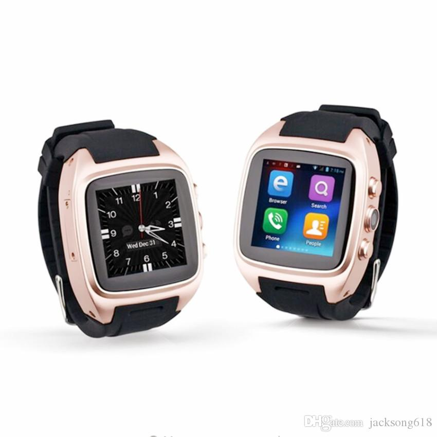 Più nuovo X01S HD Quad Core Smartwatch 3G SIM Card Android 5.1 WIFI Bluetooth Internet GPS impermeabile Wearable Smart Watch 5pcs / lot