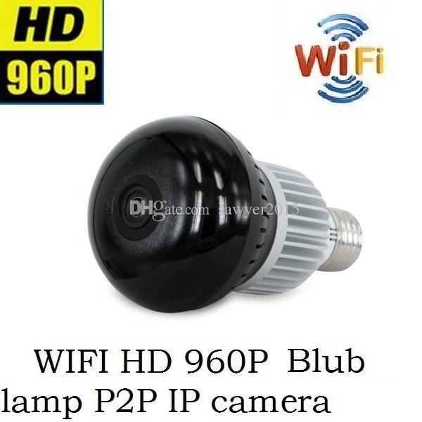 Wirless شبكة wifi led لمبة مصباح كاميرا hd 960 وعاء 360 درجة كاميرا بانورامية led لمبة ضوء كاميرا أمن الوطن ل ios الروبوت