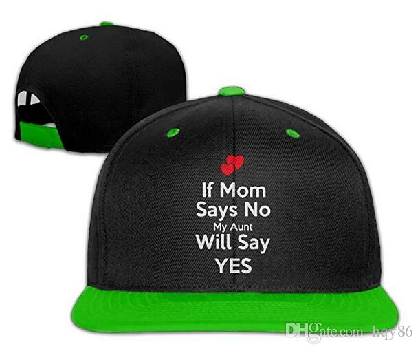 Snapback Hats for Men /& Women I Love My Aunt Embroidery Cotton Snapback Black