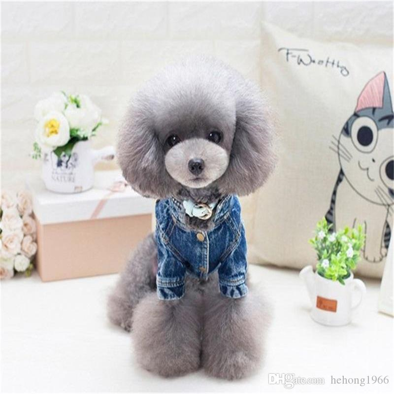 Köpek Giysileri Kovboy Ceket Köpek Giyim Kaniş Teddy Elbise Karikatür Sonbahar Kış Bez Pet Malzemeleri Bardian Moda 22jz ff