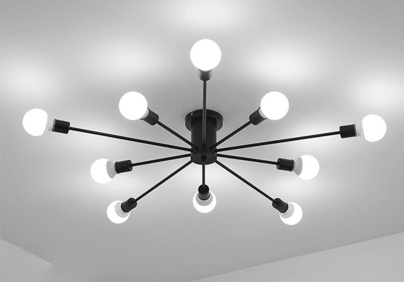 Moderno Nero Lampada Da Soffitto In Metallo palla fagiolo magico Art Deco Luce di Soffitto Per Parlor cucina Corridoio Lampsras de techo G338