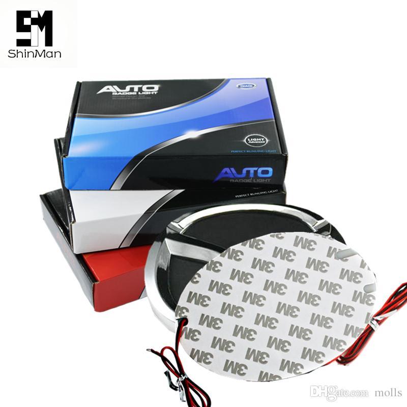 4D 자동차 엠 블 럼 라이트 led 후면 뱃지 스티커 빛 마즈다 6 2/3/8 CX7 CX-7 4D led 로고 빛 엠 블 럼 차 led