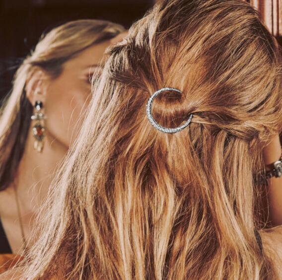 JOOLIM المجوهرات بالجملة 3 قطعة / المجموعة النجمي مهد القمر الشعر دبوس نجمة الشعر كليب المشابك مجوهرات النيكل وخالية من الرصاص