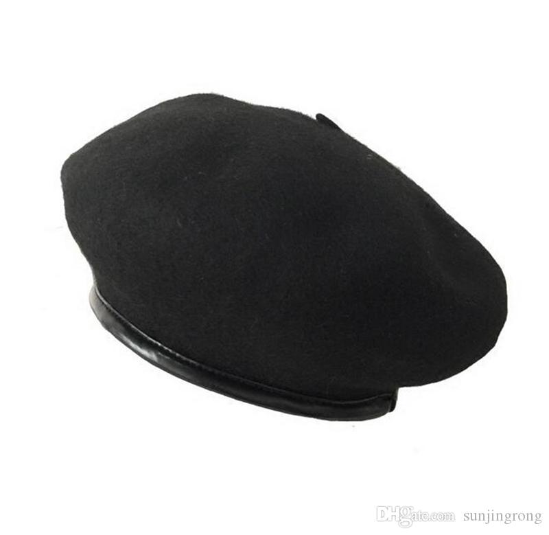 Wollmischung Barett Caps Boina Feminina Künstler Barett Flache Kappen Hüte Für Frauen Maler Hut Weibliche Kappe Kürbis