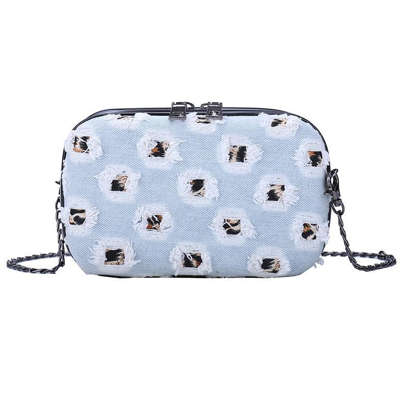 2018 الدينيم حقائب الكتف حقيبة يد نسائية حقائب السهرة سلسلة حزب الأكمام السيدات الصغيرة CROSSBODY رسول كاوبوي