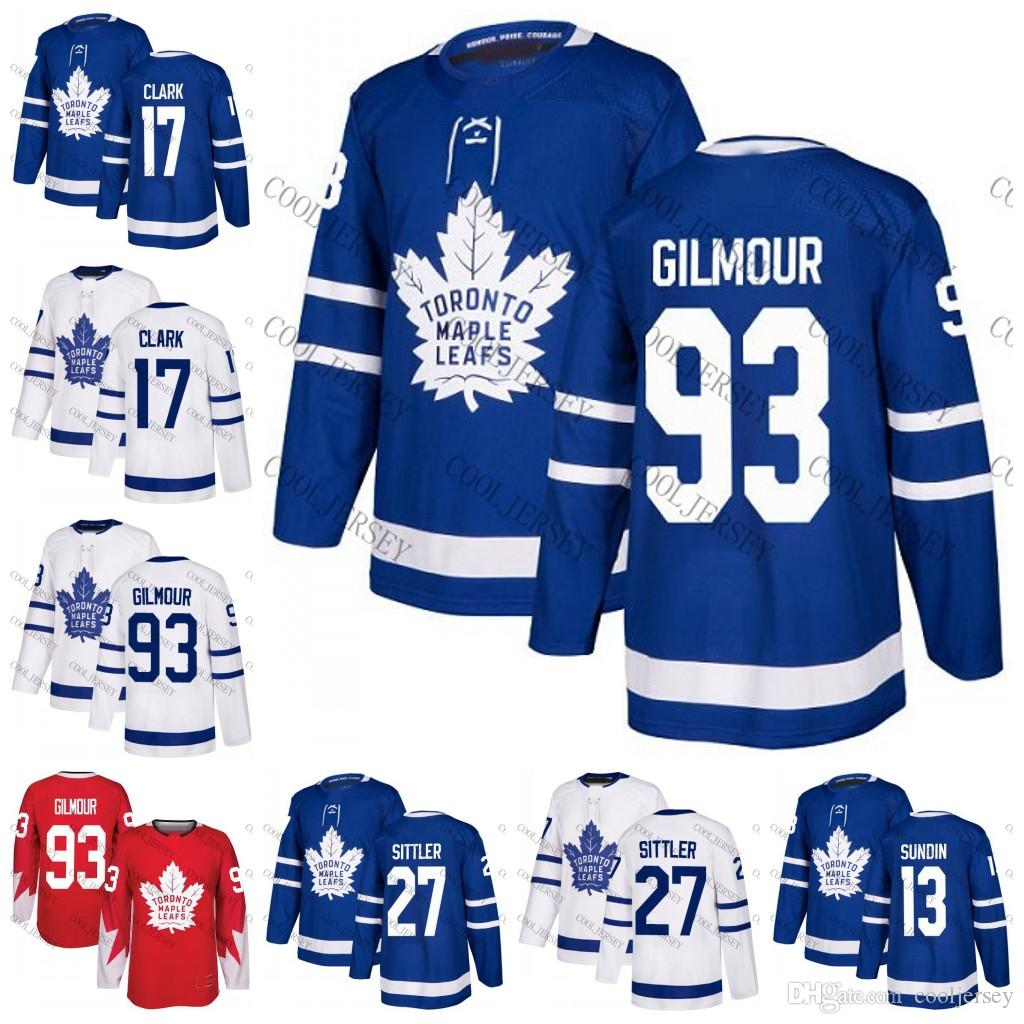 finest selection 18cc4 bb53a 2019 2018 Toronto Maple Leafs Hockey #93 Doug Gilmour 13 Mats Sundin 17  Wendel Clark 27 Darryl Sittler Blue White Retired Player Jerseys Stitched  From ...