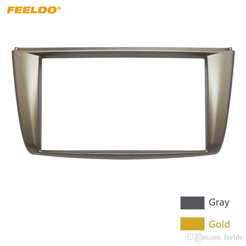 FEELDO 2Din Car CD DVD Radio Stereo Frame Panel For Proton Lotus Gen II GEN2 Audio Refitting Frame Dash Fascia Kits #5236