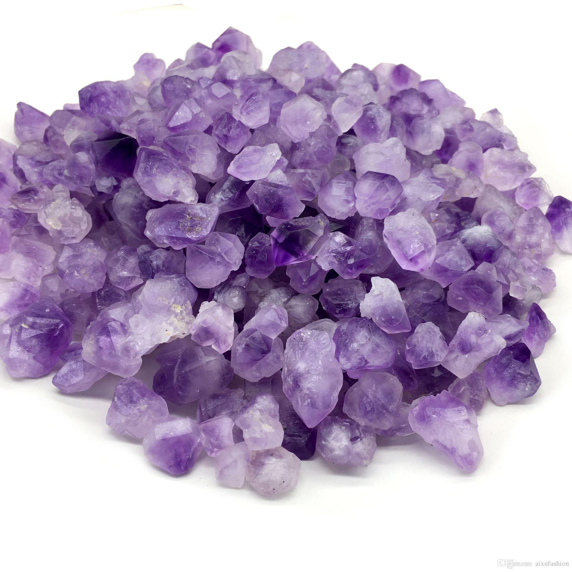 8-25mm 100 gr / los Natürliche Amethyst Zahn Stein Perlen Unregelmäßigen Losen Lavendel Amethyst Rohen Stein Perlen Mineralien