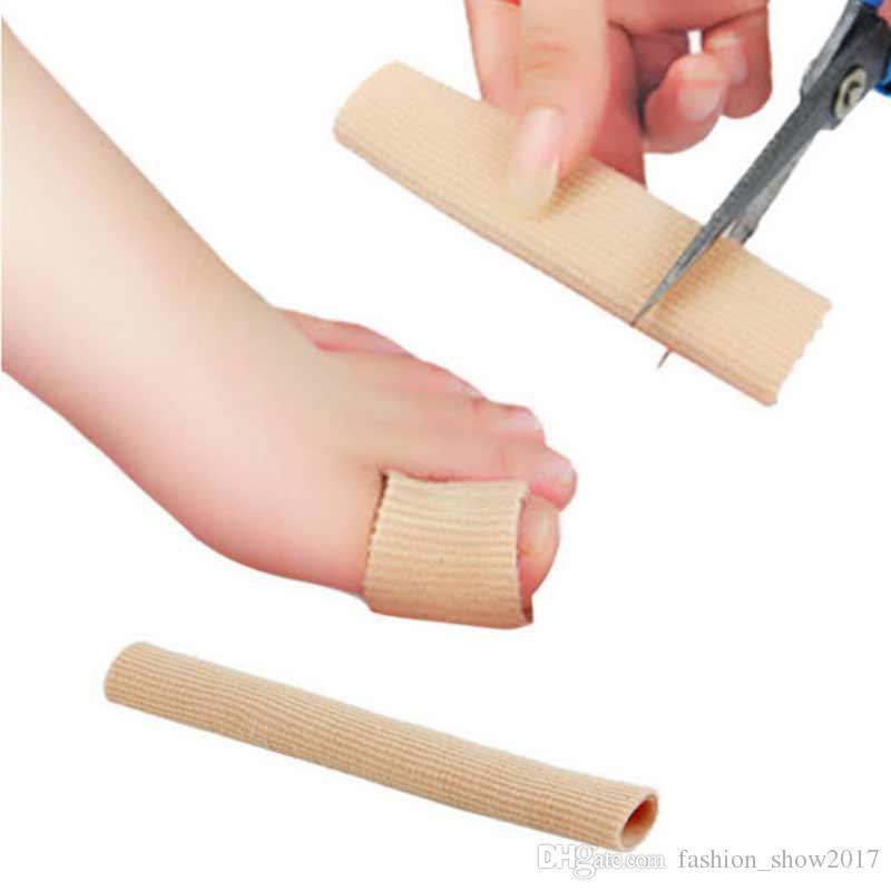 Ayak Parmak Düzeltici Tabanlık Kumaş Jel Silikon Tüp Bunyon Toes Parmaklar Ayırıcı Bölücü Koruyucu Mısır Nasır