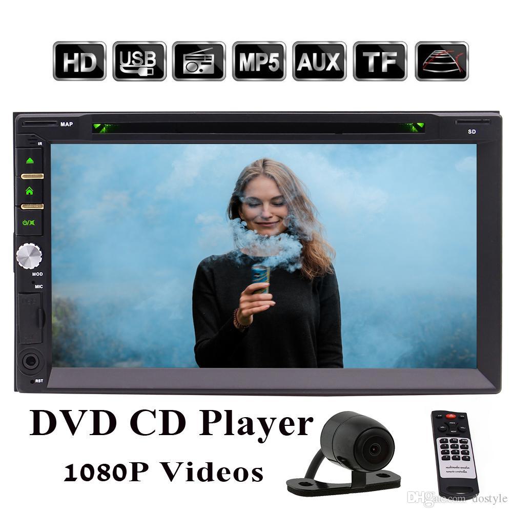 EinCar Doble pantalla táctil Din DVD para el automóvil Estéreo en el tablero Unidad Bluetooth 7 '' Receptor de radio para automóvil Reproductor de CD / DVD / MP3 / MP4 FM / AM Autoradio