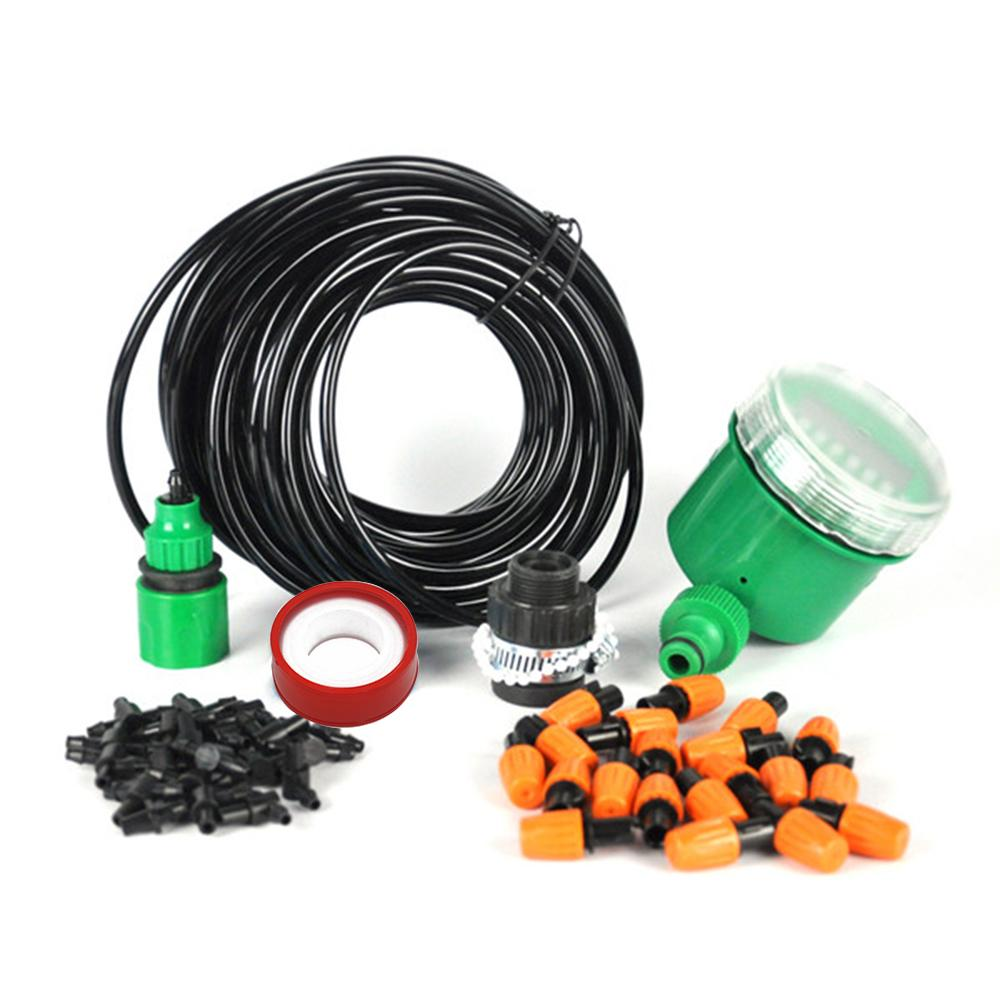 4// 7mm Hose Dripper Plant Watering Tee Joint Timer Micro Drip Irrigation Garden