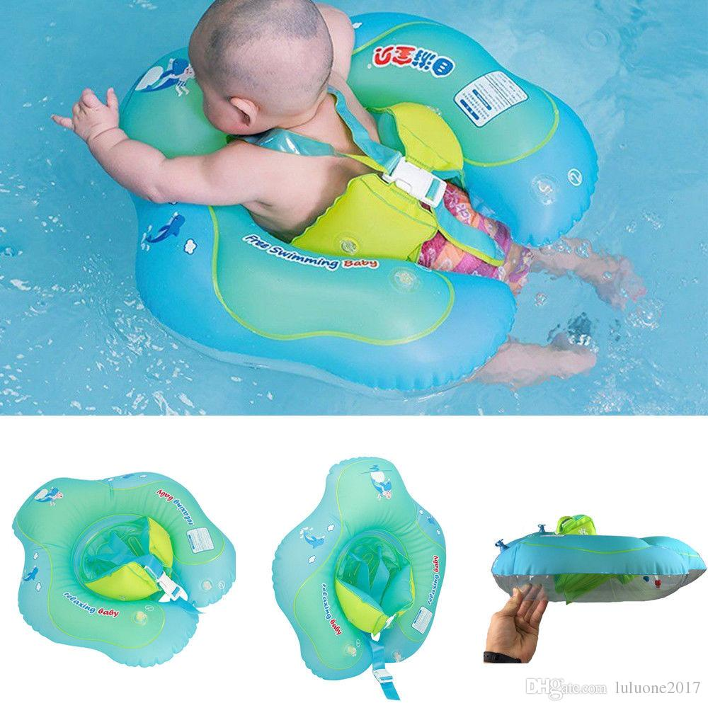 Baby Kids Inflatable Float Safety Swimming Ring Trainer Aid Pool Child Water Toy