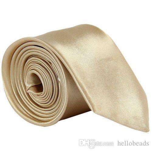 Wedding Banquet Slim Classic Men/'s Narrow Skinny Ties Solid Multi Color Necktie