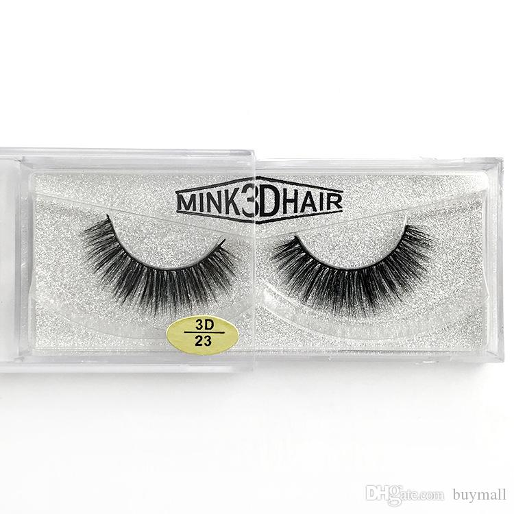 Soft & Vivid mink 3d false eyelashes pure handmade reusable mink lashes black cotton stalk 12 styles available DHL Free fake eyelashes