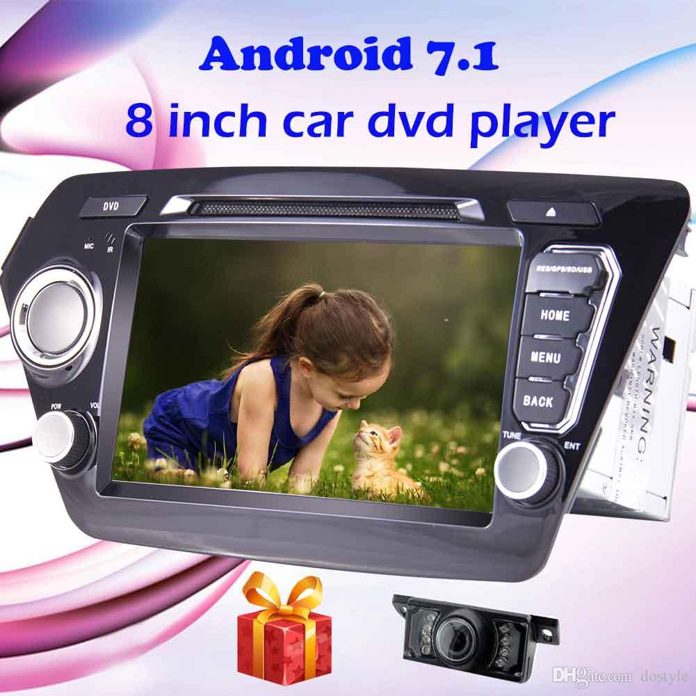 Eincar Backup Camera+Android 7.1 Quad core Double 2 Din Car DVD Player for KIA K2 2011-2012 Car Stereo GPS Navigation In Dash