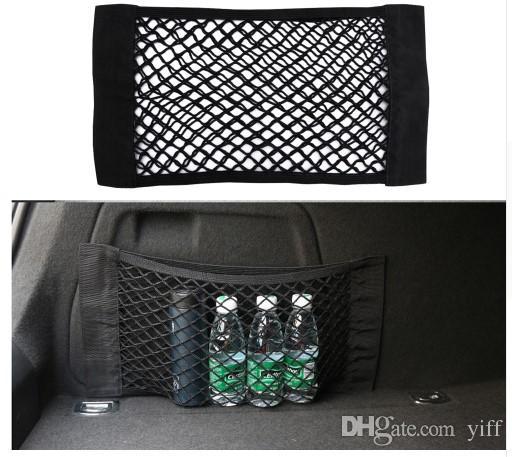Car Trunk Box Storage Bag Mesh Net Bag 50cm*25CM Car Styling Luggage Holder Pocket Sticker Trunk Organizer