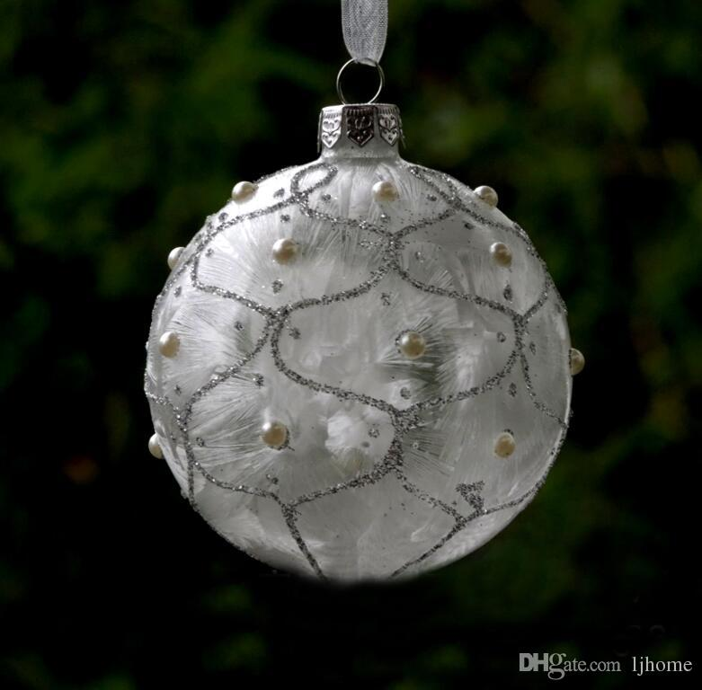 Christmas Tree Painted Ball Decoration Hanging Ornaments Xmas Baubles Crafts CA