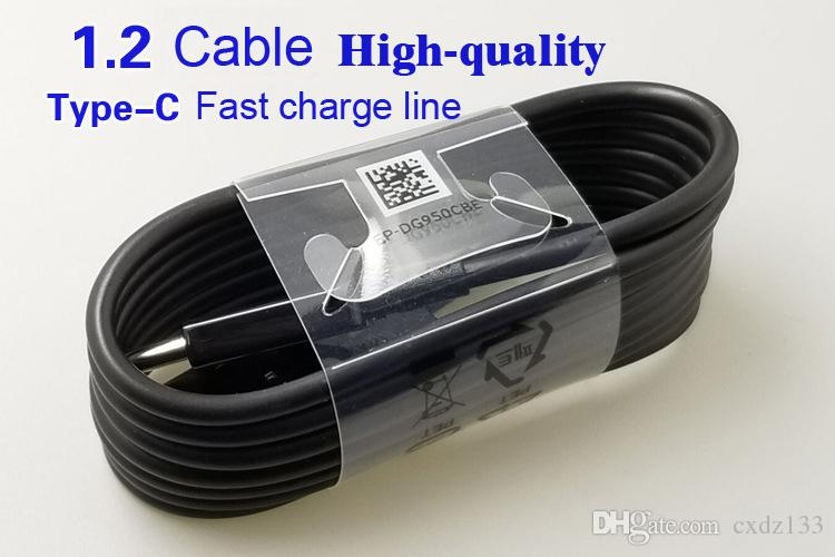 최고 품질의 OEM 1.2 메터 4 피트 usb 형 C 동기화 데이터 케이블 공급 빠른 충전 s8 참고 4 빠른 충전기 s8 플러스 8