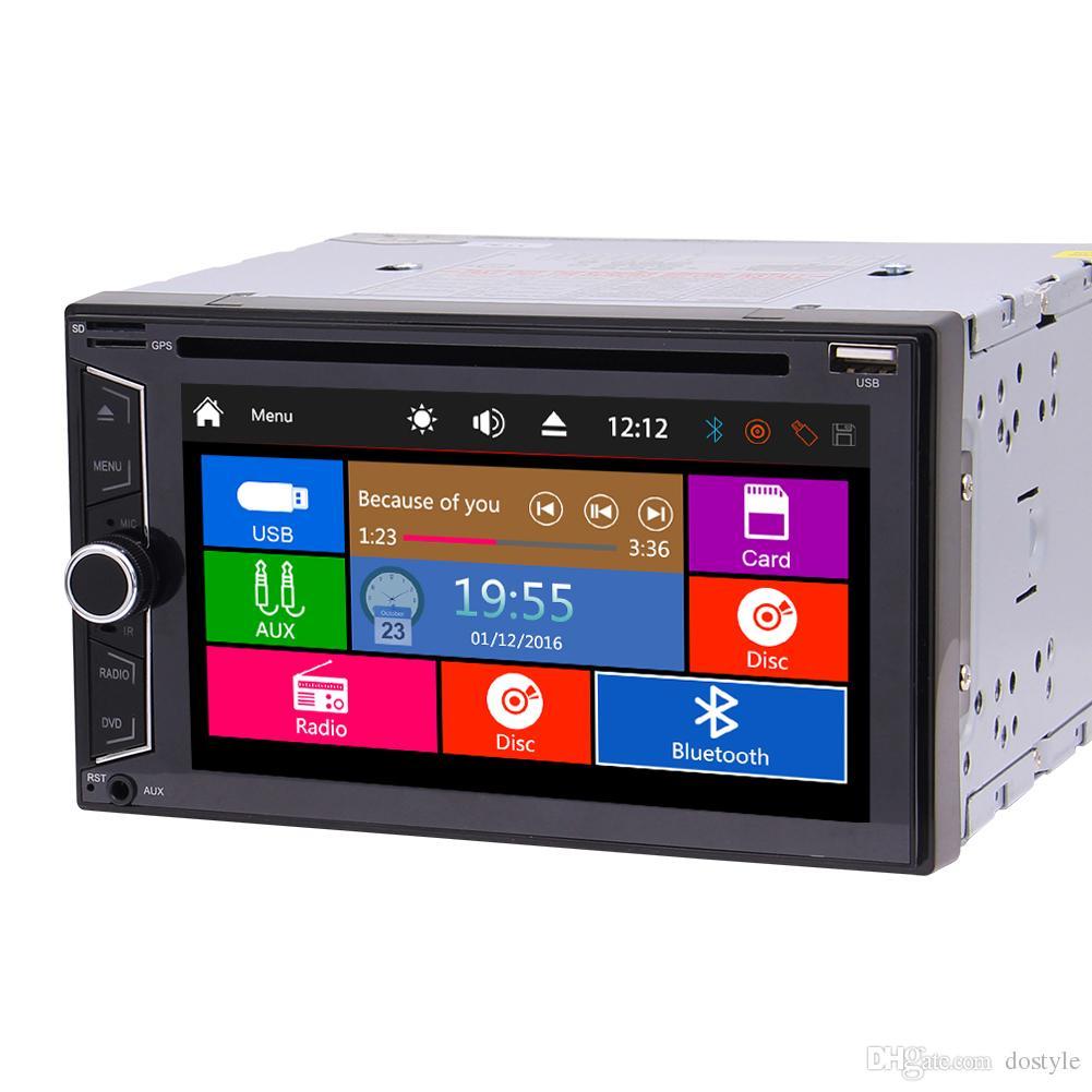 라디오 더블 2 din autoradio 자동차 dvd 플레이어 자동차 pc headunit automagnol 더블 딘 1080p 비디오 재생 bluetooth FM / AM 서브 우퍼 USB AUX