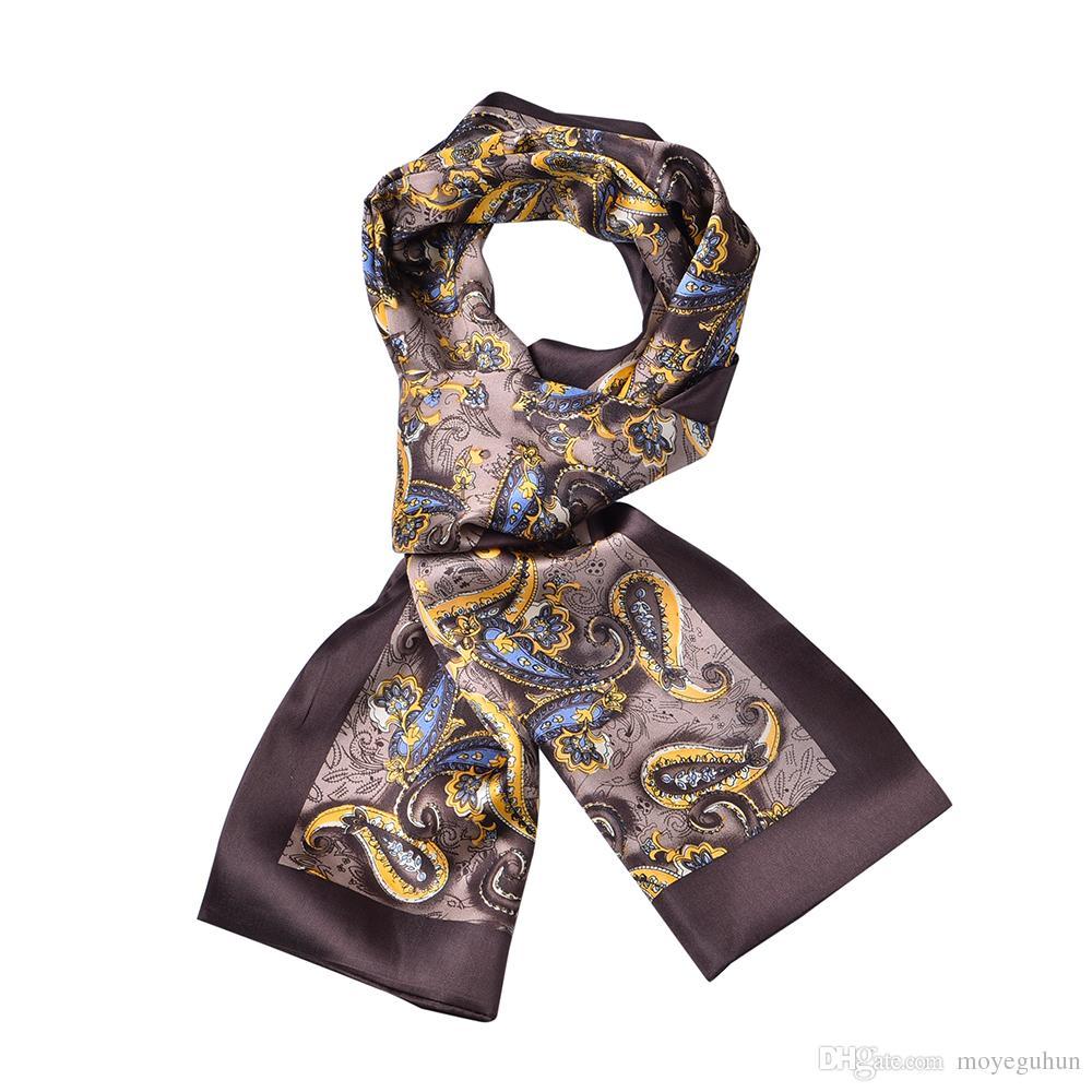 Mode cashew blommor mönster silke halsduk män ny höst och vinter dubbel lager neckerchief för gåva