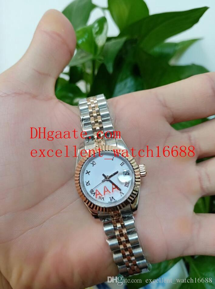 Lady watches Date just 179171 26 mm 18k Rose Gold White Dial Asia 2813 Automatic Mechanical Ladies Watch Women's Watches