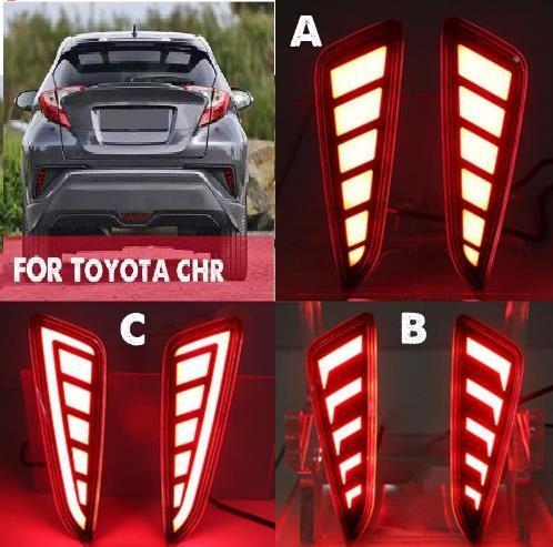 For Toyota C-HR CHR 2016 2017 Multi-function 12V LED Reflector Lamp Rear Fog Lamp Rear Bumper Light Brake Light car-styling