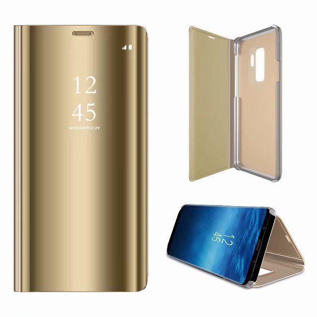 Espejo de la ventana de visualización de la caja del caso Soporte Flip Folio de cuero cubierta de Shell de plástico para Samsung Galaxy A9 estrella A9 Star lite J4 2018 J6 2018 90PCS /