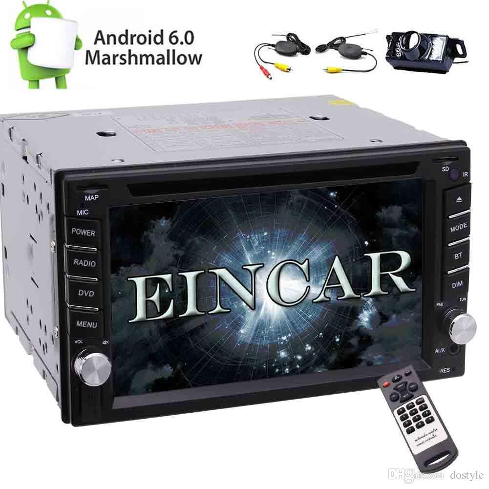 Eincar In Dash Universal Doble 2 DIN Android6.0 Car Stereo Quad Core Autoradio GPS Navegación Coche Reproductor de DVD 1080p Bluetooth SWC / Espejo