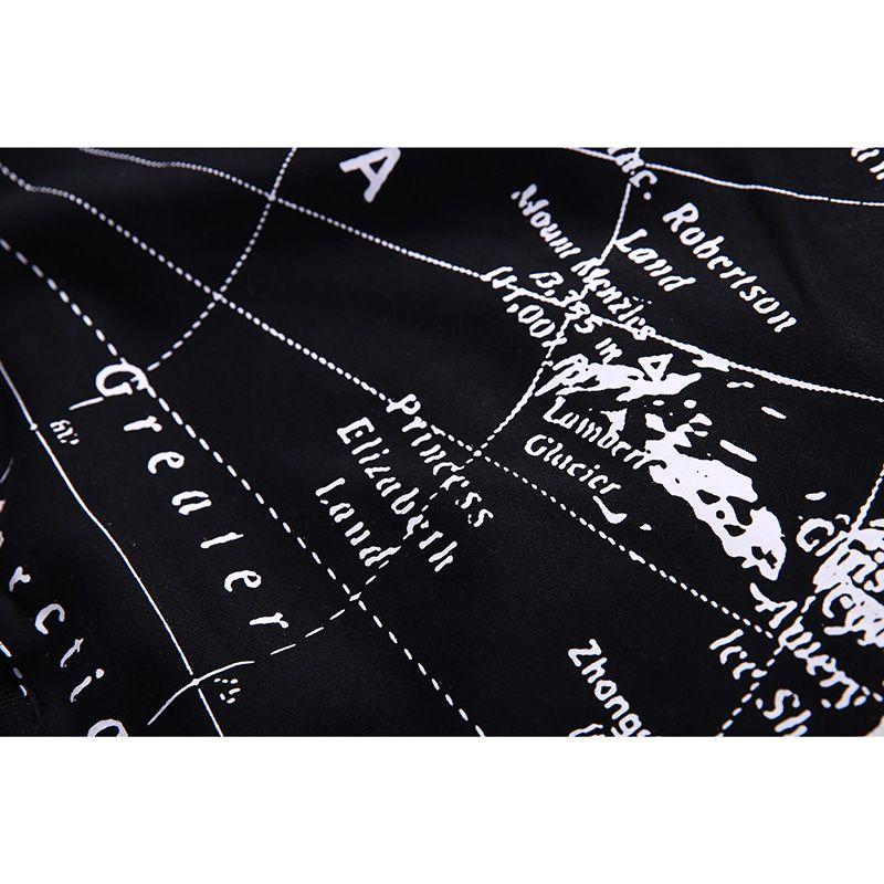 Großhandel Mens Hoodie Sweatshirt Weltkarte Drucken Hip Hop Hoodies Pullover Streetwear Herbst 2018 Globe Print Schwarz Hoode Baumwolle Hipster Von