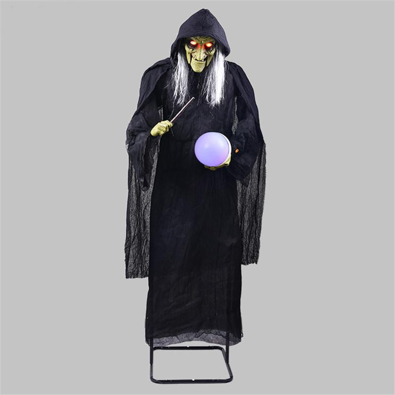 2020 Halloween Decoration Horror Witch Holding The Glowing